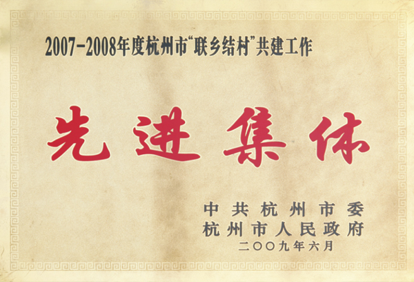 杭州叉车荣誉-先进集体