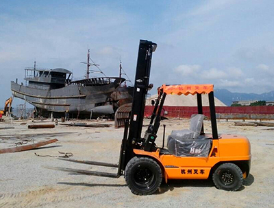 南澳造船厂采购杭州叉车案例