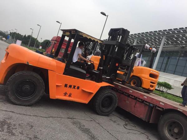 金泉搬运装卸公司采购杭州叉车案例