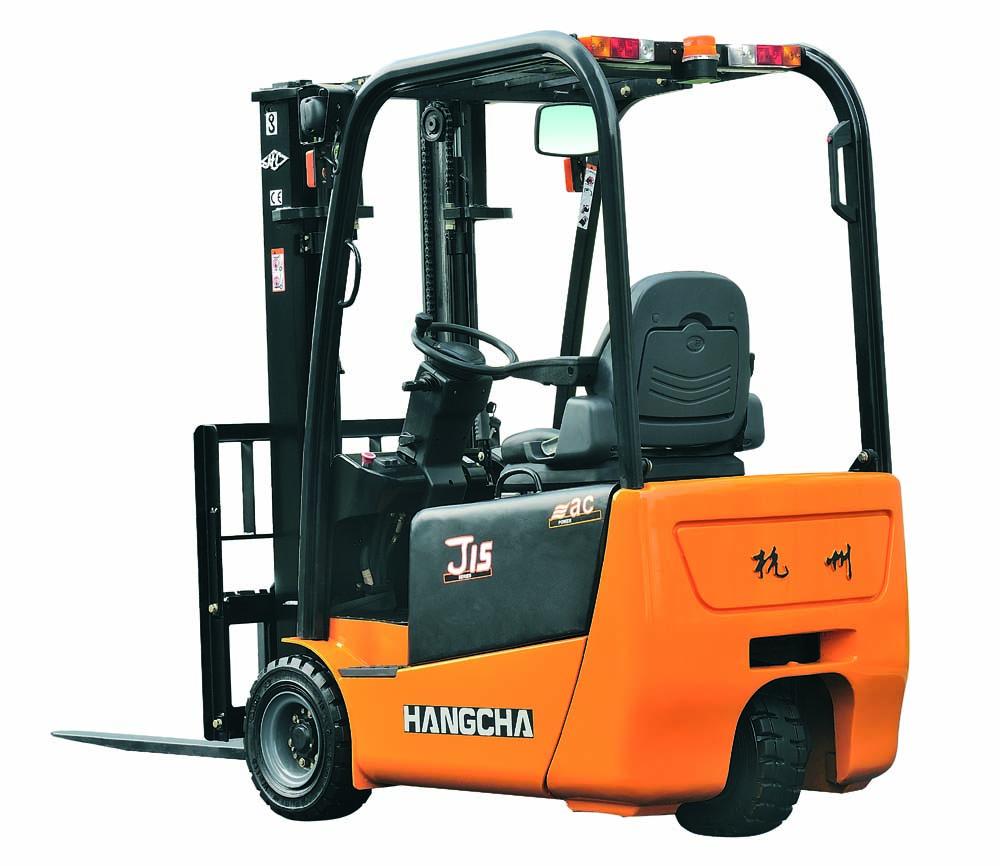 J系列1-1.5吨三支点(后驱)电动叉车