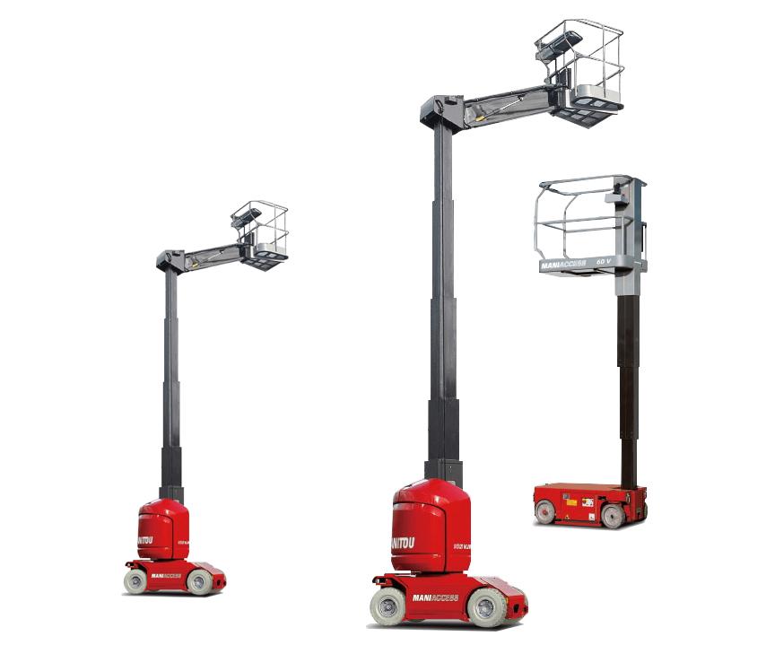 6-10米电动桅杆式高空作业平台